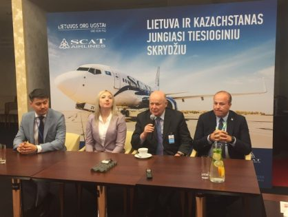 Introducing new flight operated by SCAT airlines: Astana – Vilnius