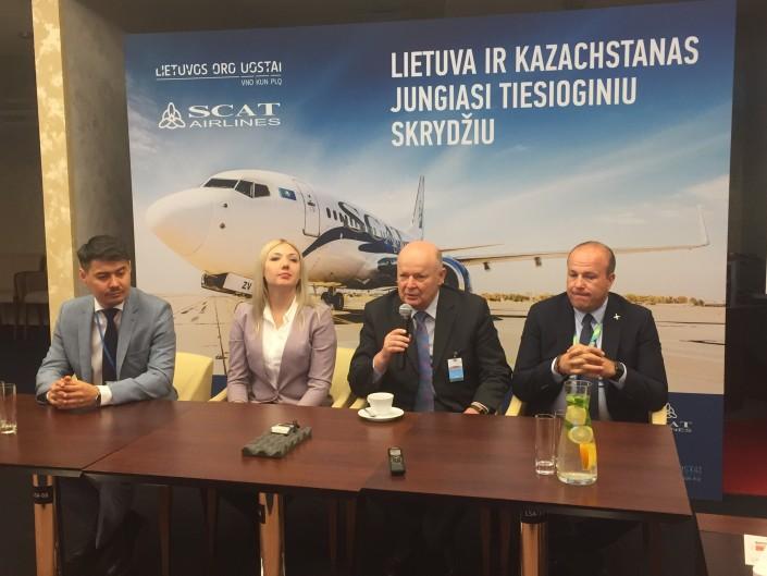 Открылся новый рейс Астана – Вильнюс