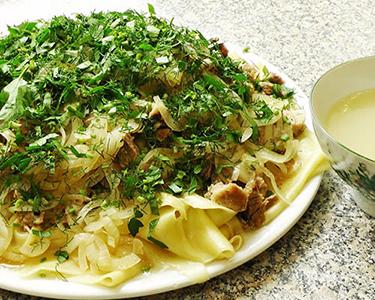 Рецепт национального блюда. Бешпармак