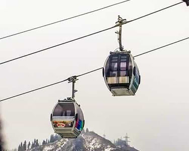Cable cars with a transparent floor launched on Shymbulak