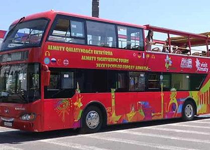 Двухэтажный туристический автобус запускают в Алматы